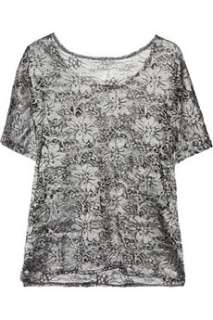 Top Secret Fire And Ice oversized silk lace top    Now at THE