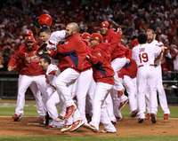 Celebration, St. Louis Cardinals, World Series Game 6, 10/27/2011