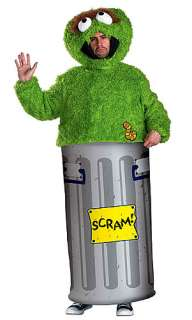 Adult Oscar the Grouch Costume   Mens Sesame Street Halloween Costumes