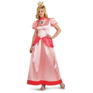 Halloween Costumes Super Mario Bros.   Princess Peach Adult Costume