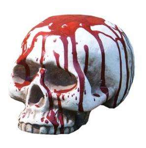 Bloody Jawless Skull   Decorations & Props