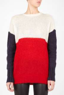 Joseph  Red Soft Mohair Block Colour Sweater by Joseph
