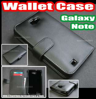 Leather Case Cover+Card Holder for Samsung Galaxy Note N7000 i9220