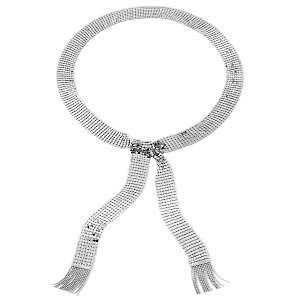 Paula Abdul FYG Long Metal Mesh Sparkling 42 3/4 Tie Scarf