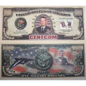 10 Bills CENTCOM (Central Command) Million Dollar Bill Toys & Games