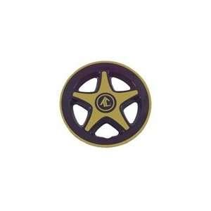 Black and Gold Tek Cart Wheel Cover, 8