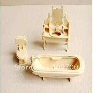 3d wooden simulation model puzzles of the temple of bathroom: Toys