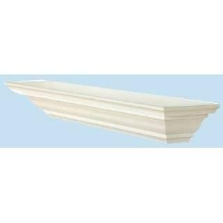 48 Inch x 3.25 Inch x 5.25 Inch Corona Crown Molding Wall Shelf White