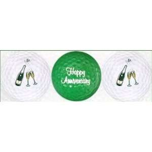 Happy Anniversary Golf Balls: Sports & Outdoors