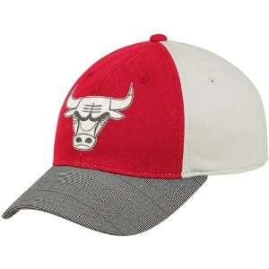 adidas Chicago Bulls Red Natural Fashion Flex Fit Hat