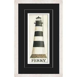 Art Etc Ferry 15 W x 27 H David Carter Brown Framed Wall