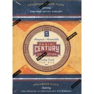 2010 Panini Americana Century Collection box (1 pk/5 cds