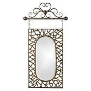 Irene Antique Bronze 39 High Hanging Wall Mirror