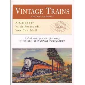 Vintage Trains 2004 Postcard Calendar (9781569067314