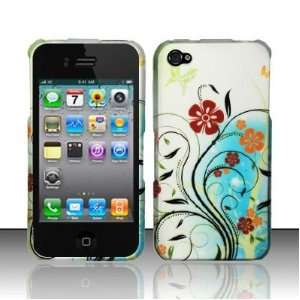 Apple Iphone 4, 4s Phone Protector Hard Cover Case Flower