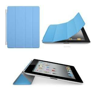 Magnetic Smart Cover Case Blue for Apple The New iPad 2 iPad2 Ipad