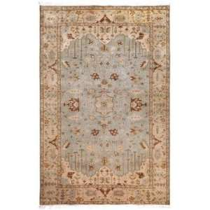 IT 1013 Area Rug   8 Round   Light Blue, Brown