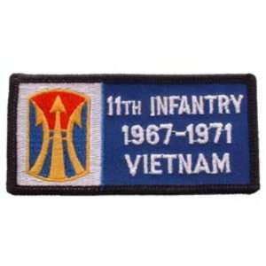 U.S. Army 11th Infantry Brigade 1967 1971 Vietnam Patch 1