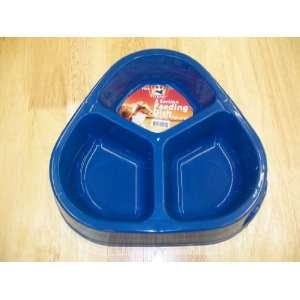 3 Section Plastic Pet Dog Cat Feeding dish Bowl