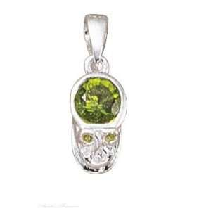 Sterling Silver August Birthstone Baby Shoe Charm Jewelry