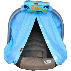 Padalily Baby Blue Infant Car Seat Canopy & Cover