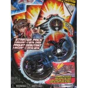 Bakugan Starter Pack BLACK Skyress/Ravenoid/Mystery