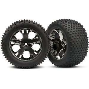 Pin Tires Assembled on All Star Black Chrome Wheels Toys & Games