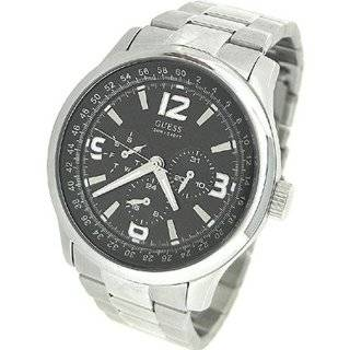 Mens U11629G1 Silver Stainless Steel Quartz Watch with Black Dial