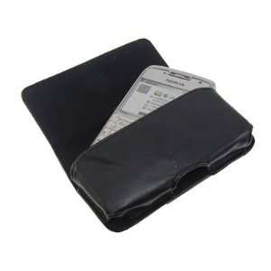 Side Pouch Case with Belt Loop for Nokia E71   Black Electronics