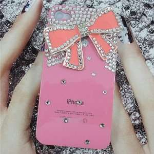 Luxury 3D Bling Crystals Rhinestones Bow Hard Case for