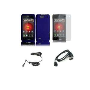 DROID 4 (Verizon) Premium Combo Pack   Purple Hard Shield Case Cover