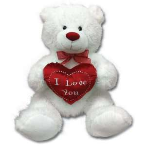 White Teddy Bear on Large 33 Valentine I Love You White Teddy Bear Plush  Everything Else