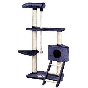 of Kitty Power Cat Furniture Tree   Blue  Pet Supplies