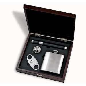Cigar Gift Set Mahogany color wood box