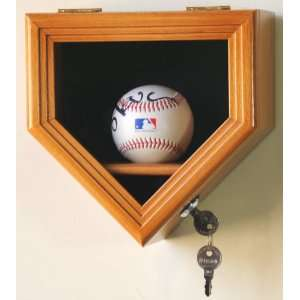 1 Baseball Display Case Cabinet Holder Wall Rack Box w/ UV