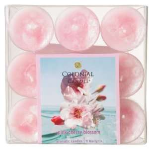 Club Pack of 54 Tea Light Pink Cherry Blossoms Aromatic