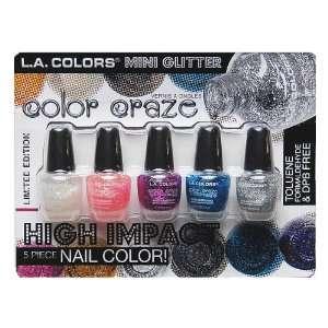 L.A. COLORS Color Craze Mini Glitter Nail Polish CNS124