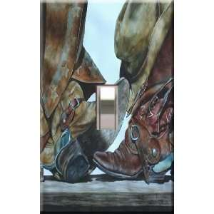 Cowboy Boots Decorative Single Light Switchplate Cover