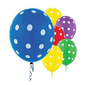 Latex Primary Color Polka Dot Balloons 20ct Toys & Games