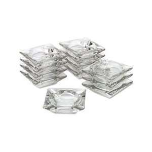 OfficeMaid Clear Glass Ashtray