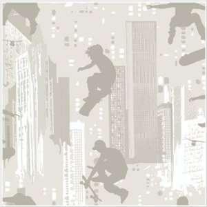 Peel & Stick By Just Kids KD1817 Skateborder Wallpaper