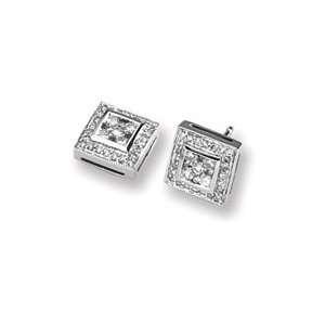 14K White Gold Diamond Earrings   JewelryWeb Jewelry