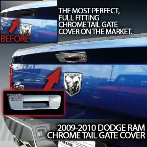 2009 2012 Dodge Ram Chrome Tail Gate Cover Without Keyhole