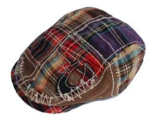 True Religion Brand Jeans Plaid Driver Hat: Clothing