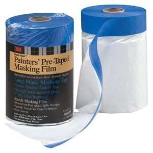 MASKER PRE TAPED PLASTIC DROP CLOTH WITH DISPENSER