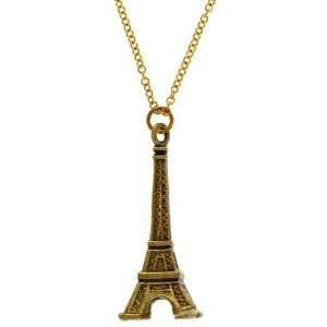75 X 1.75 Eiffel Tower Pendant On 16 Chain Gpe, Usa Seventeen In