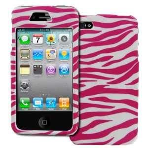 EMPIRE Pink with White Zebra Stripes Design Hard Case