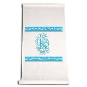 Aisle Runner, Fancy Font Letter K, White with Blue: Home & Kitchen