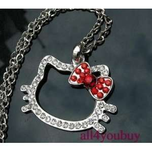 Hello Kitty Necklace  18 20 Inch Chain