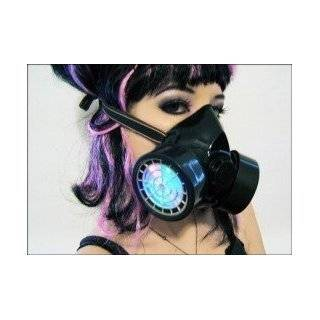 Blue UV Anime Cosplay Cyber Punk Goth Gas Mask Rave New
